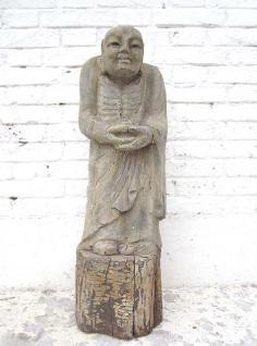 Mönch in Meditation stehend Statue Figur Skulptur Pappelholz China 1910 von Luxury Park