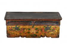 Antike indische Truhe Box Kassette handbemalt