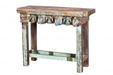 Indien individueller Tisch Highborad aus alten antiken Bauelementen