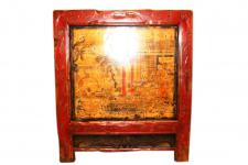 China Mongolei 1890 antiker Küchenschrank lackiertes Holz