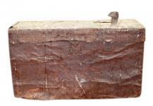 Bulgarien 1930 kleine Truhe aus Metall Antiklook Gebrauchsspuren shabby chic