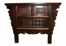 China Shanxi 1870 uralte Kommode Anrichte aus reich verziertem Ulmenholz