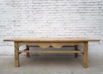 China Shandong um 1890 großer klassisch niedriger Tisch Ulmenholz natur
