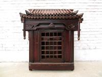 China Shanxi ca 1860 großer Hausaltar dunkle Ulme zauberhafte Rarität