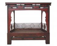 Shandong 1860 traumhaftes Bett Alkoven herrliche Schnitzarbeit Rarität
