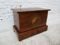 CHINA shanxi 1890 classical style trunk chest box elm wood occasion