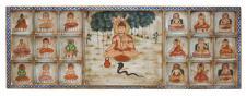 Indien besonders breites Wandbild mit traditionellen religiösen Motiven