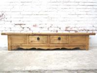 China Shanxi 1890 Landhaus Stil TV breite Konsole Lowboard für Flatscreen Flachbildschirm Ulme von Luxury-Park