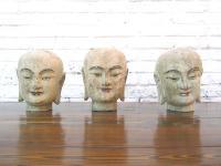 China drei Skulpturen Köpfe nach 500 Jahre alten Vorlagen aus feinem Pappelholz modelliert von Luxury-Park