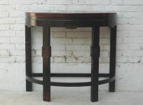 China halbrunder Beistell Wand Tisch Pinie dunkel