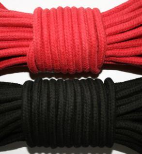 Baumwollseil Ø 8 mm schwarz oder rot - Vorschau 1