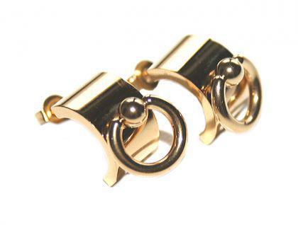 Ohrstecker Ohrringe Creolen der O, gold