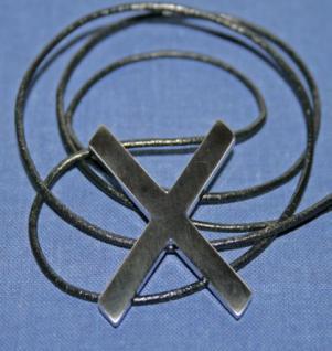 BDSM Anhänger Halskette Andreaskreuz, silber - Vorschau 2