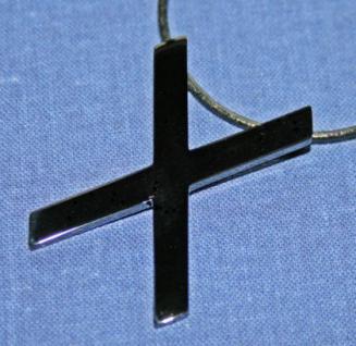BDSM Anhänger Halskette Andreaskreuz, schwarz - Vorschau 2