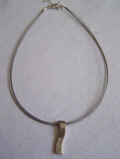 AE-05# Halskette Choker mit Strassanhänger silberfa