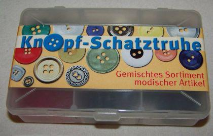 Knopfset - Knopf-Schatztruhe - Mischung 6 Sorten modische Knöpfe Set #1
