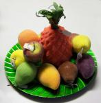12 teiliges Deko-Obst Set - Obstkorb Obstteller Innendeko Gastronomie Party