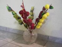 6 Äste mit Früchten und Blätter - Äpfel Birnen - 1
