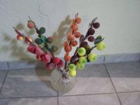 6 Äste mit Früchten und Blätter Pflaumen Pfirsiche - 2