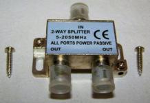 TV Zweifachverteiler Verteiler Splitter Adapter Antenne 5-2050 MHz