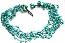 TURQUOISE FAIRYSTEPS- Türkis Perlen 5-stufiges türkises Collier