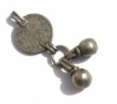 Alte Münze Anhänger massiv Silber antik jüdisch jemenitisch Unikat