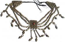 SILBERGEHßNGE antike jemenitische 4-reihige schwere Kette