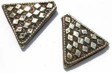 DREIECKEPAAR antike Silber Kettenstücke