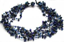DEEP BLUE FAIRYSTEPS-Lapis Lazuli Perlen 5stufiges blaues Collie