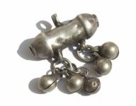 Kleiner Zylinder Anhänger Silber antik jüdisch jemenitisch Unikat