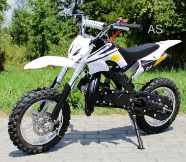 Allstars Dirtbike Pocketbike 49 ccm Delta weiss