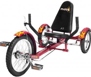 Allstars MOBO® Cruiser TRITON 3 Dreirad-Fahrrad rot