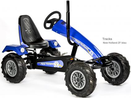 Allstars DinoCars Track ZF New Holland blau GoKart KettenKart
