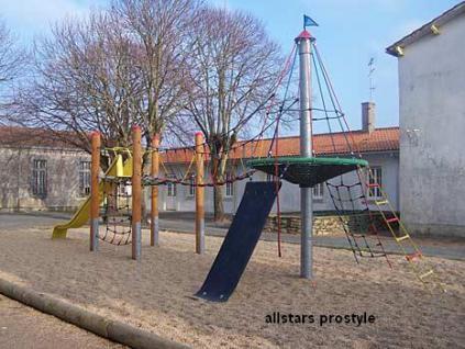 Huck Kletterkombination Adlerhorst Lotteschule mit Rutsche Eiche-Douglasie