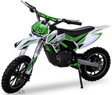 Allstars Dirtbike 500 Watt Gazelle Elektro CrossBike grün