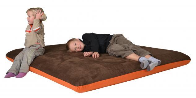 Bänfer Kindermöbel Kuschelmatratze Kinderliege Matratze 1, 6 x 1, 6 m Microfaser