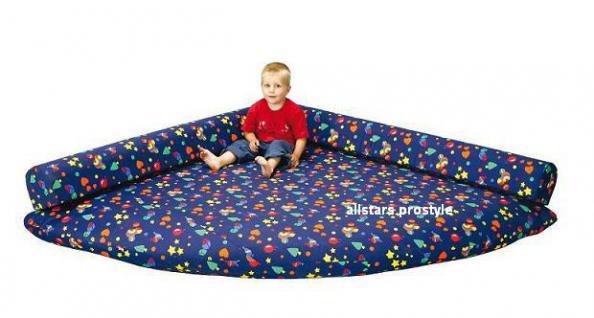 Bänfer Kindermöbel Kuschelmatratze Viertel Matratze Spielecke Lehne Microfaser - Vorschau 2