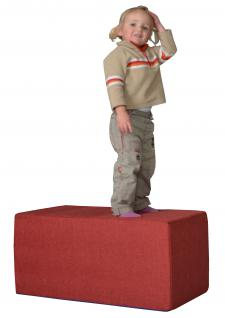 Bänfer Kindermöbel Tisch eckig Kindertisch MAXI Schaumstoff Polyester Spieltisch