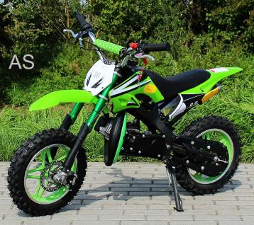 Allstars Dirtbike Pocketbike 49 ccm Delta grün