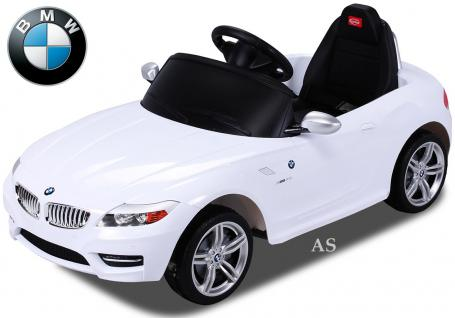 allstars Kinderauto Elektroauto BMW Z4 weiss Lizenz Sportwagen mit Fernbedienung