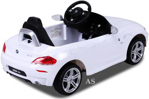 allstars kinderauto elektroauto bmw z4 weiss lizenz. Black Bedroom Furniture Sets. Home Design Ideas