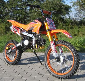 Allstars Dirtbike Pocketbike 125 ccm orange