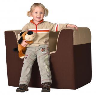 Bänfer Kindermöbel Sessel Kindersessel MAXI Schaumstoff Polyester Spielsessel