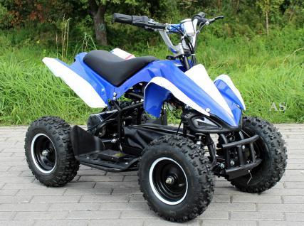 Allstars E-Quad Elektroquad Racer 800W blau-weiss Kinderquad - Vorschau 1