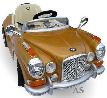 allstars Kinderauto JE128 Elektroauto Oldtimer E-Auto Sportwagen gold-metallic - Vorschau 1