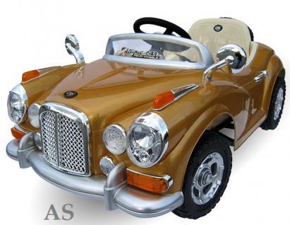 allstars Kinderauto JE128 Elektroauto Oldtimer E-Auto Sportwagen gold-metallic - Vorschau 2