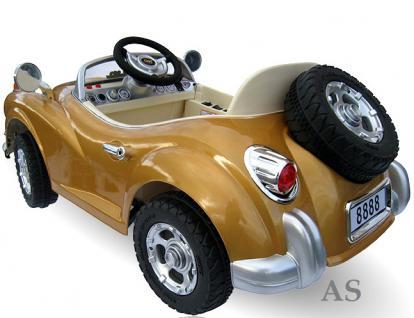 allstars Kinderauto JE128 Elektroauto Oldtimer E-Auto Sportwagen gold-metallic - Vorschau 4