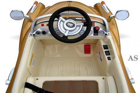 allstars Kinderauto JE128 Elektroauto Oldtimer E-Auto Sportwagen gold-metallic - Vorschau 5