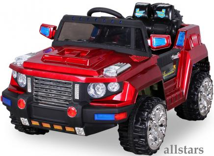 Allstars E-Kinderauto Super Elektro Jeep metallic rot Hummer-Optik KL-88 - Vorschau 2