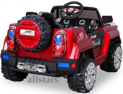 Allstars E-Kinderauto Super Elektro Jeep metallic rot Hummer-Optik KL-88 - Vorschau 3